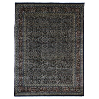 Ballimamore Hand Woven Wool Navy/Red Area Rug