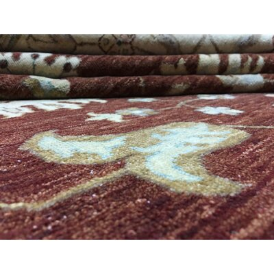 Ardith Hand-Woven Wool Brown/Beige Area Rug