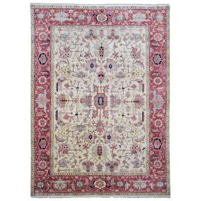Rosella Hand Woven Wool Beige/Pink Area Rug