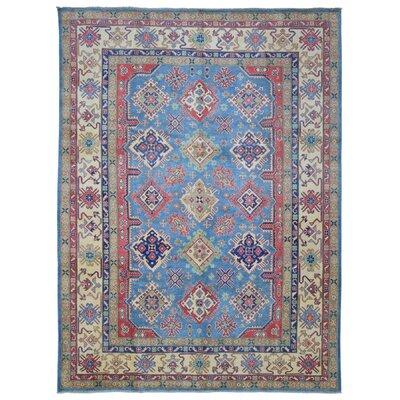 Roslyn Hand Woven Wool Blue/Beige Area Rug