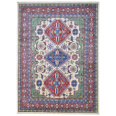 Roslyn Hand Woven Wool Blue/Red Area Rug