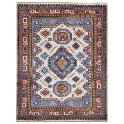 Roslyn Hand-Woven Wool Orange/Beige Area Rug