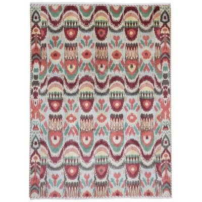 Dunsmuir Hand Woven Wool Beige/Green/Red Area Rug