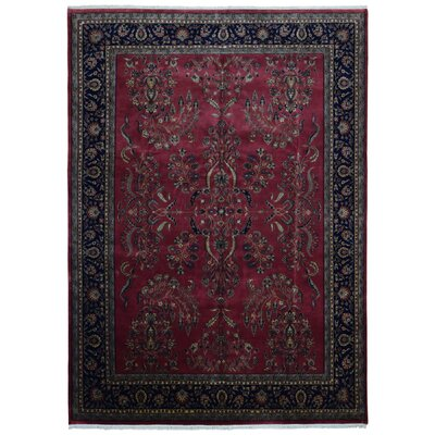 Balcones Hand Woven Wool Red/Black Area Rug
