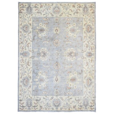 Ardith Rectangle Hand Woven Wool Blue/Beige Area Rug