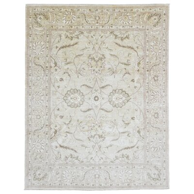 Ardith Rectangle Hand Woven Wool Beige Area Rug