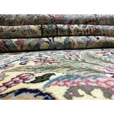 Balcones Hand Woven Wool Beige/Pink Area Rug
