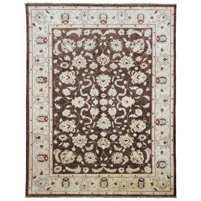 Ardith Rectangle Hand Woven Wool Brown/Beige Area Rug