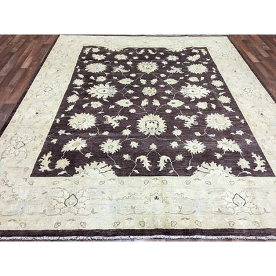Ardith Traditional Rectangle Hand Woven Wool Brown/Beige Area Rug