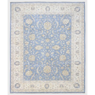 Ardith Traditional Hand Woven Wool Blue/Beige Area Rug