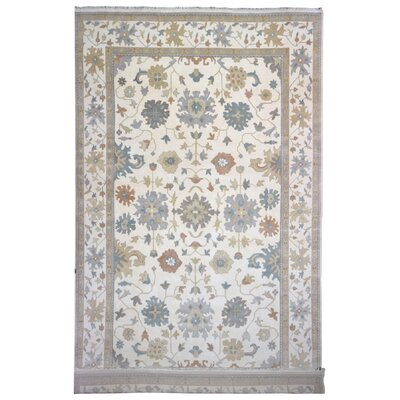 Mitchel Traditional Hand Woven Wool Blue/Beige Area Rug