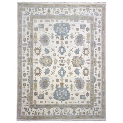 Mitchel Vegetable Dye Hand Woven Wool Blue/Beige Area Rug