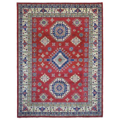 Roslyn Oriental Hand Woven Wool Red Area Rug