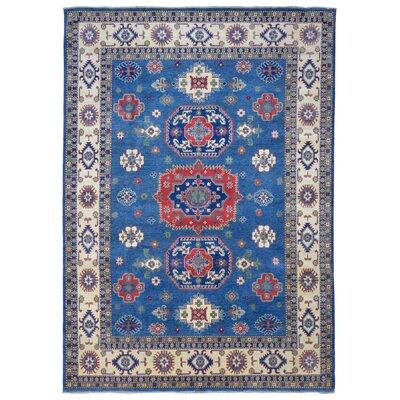 Roslyn Oriental Hand Woven Wool Blue Area Rug