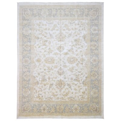 Ardith Traditional Hand Woven Wool Beige/Green Area Rug