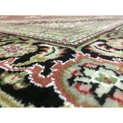 Ballyclarc Oriental Hand Woven Wool Brown/Red Area Rug