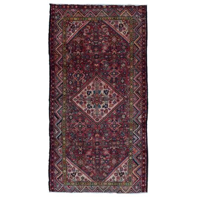 One-of-a-Kind Sadie Hamadan Oriental Hand Woven Red Area Rug