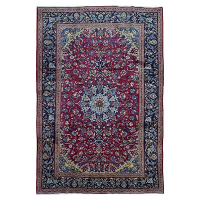 Banstead Traditional Isfahan Oriental Hand Woven Red Area Rug