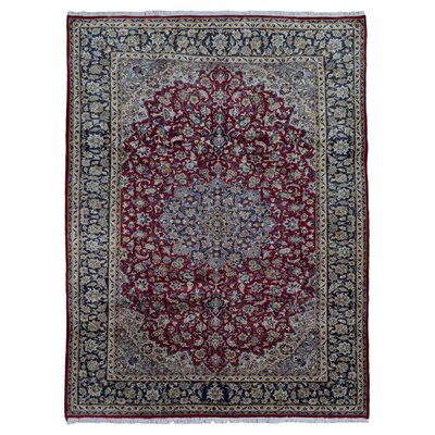 One-of-a-Kind Banstead Isfahan Oriental Hand Woven Wool Red/Blue Area Rug