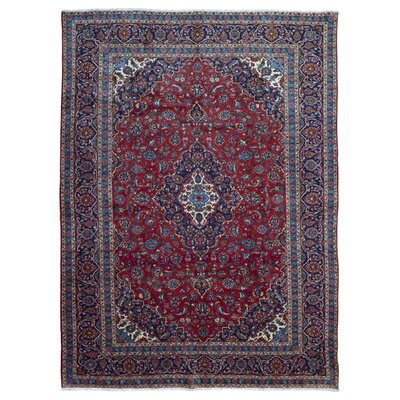 One-of-a-Kind Ballynure Oriental Hand Woven Wool Red/Blue Area Rug