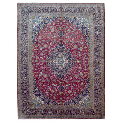 One-of-a-Kind Ballynure Oriental Hand Woven Wool Pink/Blue Area Rug