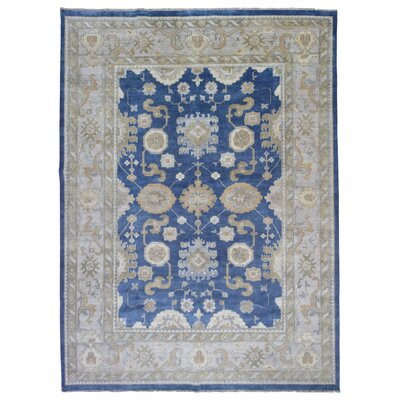 One-of-a-Kind Mitchel Hand Woven Wool Blue/Gray Area Rug