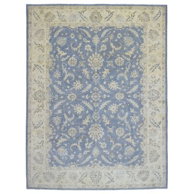 One-of-a-Kind Ardith Hand Woven Wool Blue/Beige Area Rug