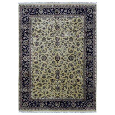 One-of-a-Kind Balic Oriental Hand Woven Wool Beige/Black Area Rug