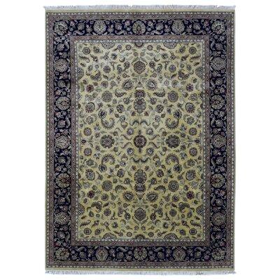 One-of-a-Kind Balic Oriental Hand Woven Wool Beige/Black Area Rug