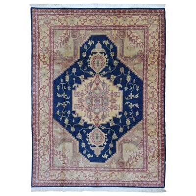 One-of-a-Kind  Roxanne Oriental Hand Woven Beige Area Rug
