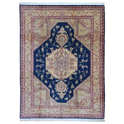 One-of-a-Kind  Roxanne Oriental Hand Woven Beige Area Rug