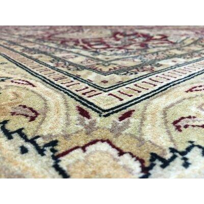 One-of-a-Kind Ballyclarc Oriental Hand Woven Wool Maroon/Beige Area Rug
