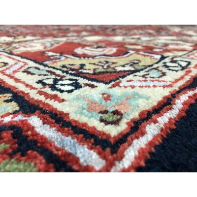 One-of-a-Kind  Roselle Traditional Oriental Hand Woven Wool Rectangle Red Area Rug
