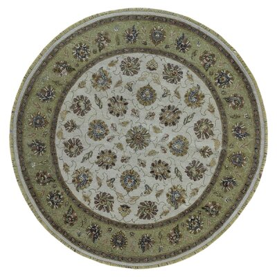 One-of-a-Kind Ardith Hand Woven Beige/Green Area Rug