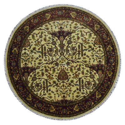 One-of-a-Kind Ballyclarc Oriental Hand Woven Wool Beige/Brown Area Rug