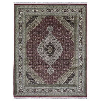 One-of-a-Kind Bakerstown Oriental Hand Woven Wool Red/Green Area Rug