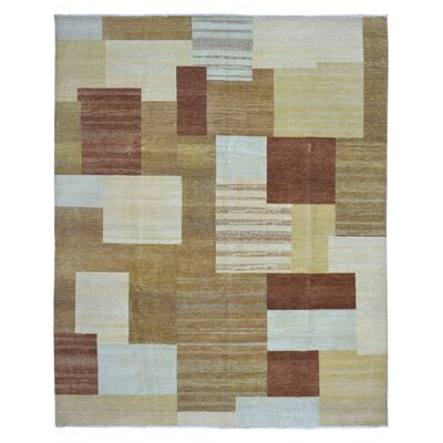 One-of-a-Kind Margit Modern Design Oriental Hand Woven Beige/Brown Area Rug