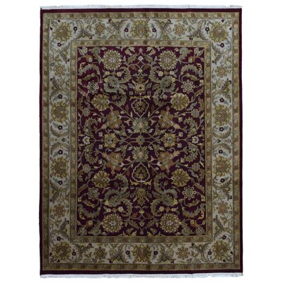 One-of-a-Kind Ballyclarc Oriental Hand Woven Wool Red/Green Area Rug