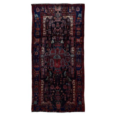 One-of-a-Kind Salonique Hamadan Oriental Hand Woven Red/Black/Beige Area Rug