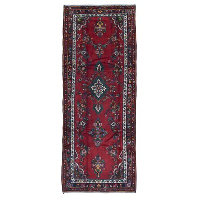 One-of-a-Kind Samara Hamadan Hand-Woven Wool Red Area Rug