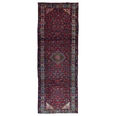 One-of-a-Kind Samson Hamadan Hand-Woven Wool Red Area Rug