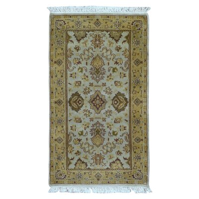 One-of-a-Kind Mitchel Oriental Hand Woven Brown/Blue Area Rug