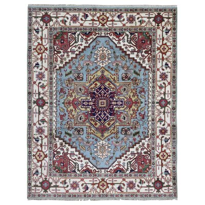 One-of-a-Kind  Roselle Oriental Hand Woven Blue Area Rug