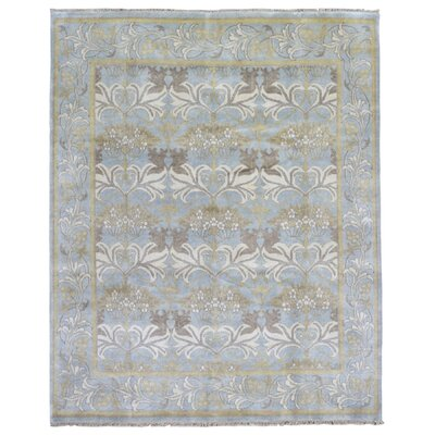 One-of-a-Kind Mitchel Traditional Oriental Hand Woven Blue Fringe Area Rug