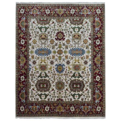 One-of-a-Kind Tanesha Oriental Hand Woven Beige Area Rug