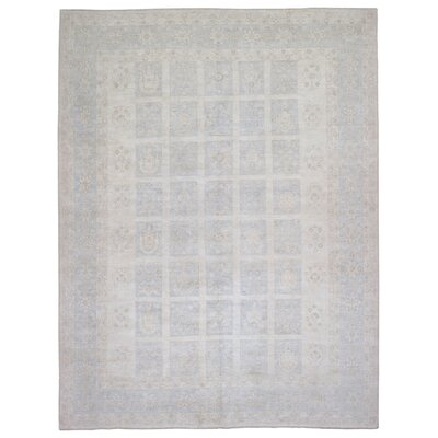 One-of-a-Kind Ardith Traditional Oriental Hand Woven Beige Geometric Area Rug