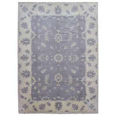 One-of-a-Kind Mitchel Turkish Knot Oriental Hand Woven Gray/Blue Area Rug