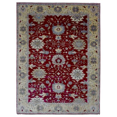 One-of-a-Kind Carmon Oriental Hand-Woven Wool Red/Beige Area Rug