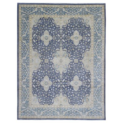 One-of-a-Kind Ardith Traditional Hand-Knotted Wool Blue/Beige Area Rug