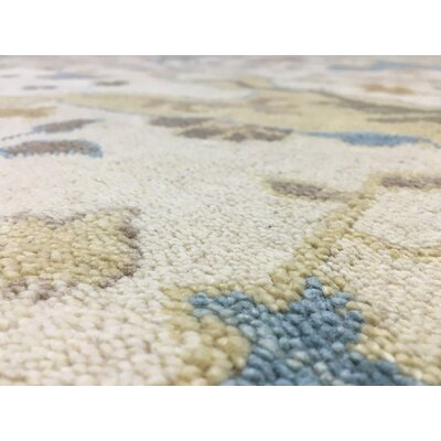One-of-a-Kind Mitchel Traditional Hand-Woven Wool Beige Area Rug